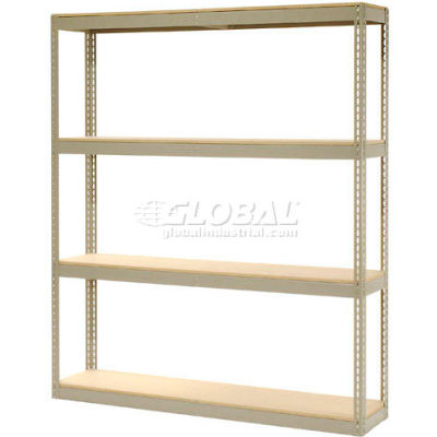 """Global Industrial™ Record Storage Rack Without Boxes 72""""W x 15""""D x 84""""H - Tan"""