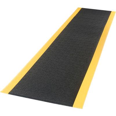 "Apache Mills Soft Foot™ Anti Fatigue Mat 3/8"" Thick 3' x 60' Black/Yellow"