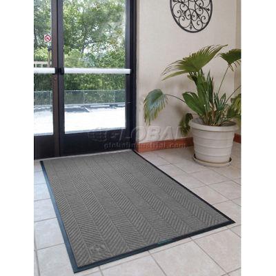 "WaterHog® Eco Elite Classic Border Entrance Mat 3/8"" Thick 3' x 5' Gray"