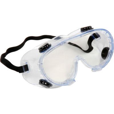 ERB™ 15147 Chemical Splash Resistant Goggles - Anti-Fog, Clear Lens, Black Straps