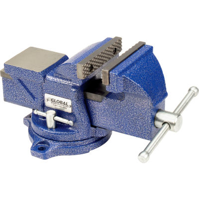 "Global Industrial™ 4"" Jaw Width 2-1/4"" Throat Depth General Purpose Bench Vise W/ Swivel Base"