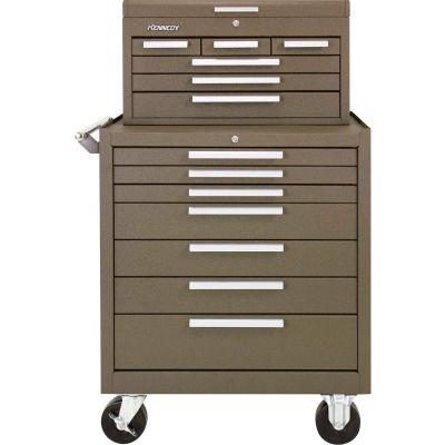 "Kennedy® 297XB & 266B 29""W X 20""D X 49-3/4""H 13 Drawer Roller Cabinet & Mechanics Chest Combo"