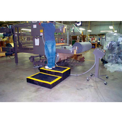 """Add-A-Level™ Stackable Platform Add-On 2-5/8"""" Thick 3' x 8' Black"""