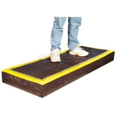 "Add-A-Mat™ Anti-Fatigue Mat 7/8"" Thick 3' x 5-1/2' Black/Yellow Border"