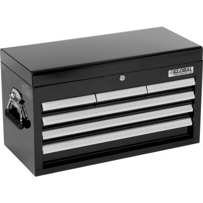 """Global Industrial™ 25-15/16"""" x 12-1/16"""" x 14-3/4"""" 6 Drawer Black Tool Chest"""