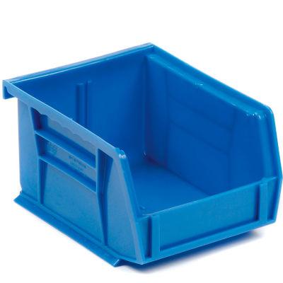 Quantum Plastic Stacking Bins 4-1/8 x 5-3/8 x 3 Blue - Pkg Qty 24