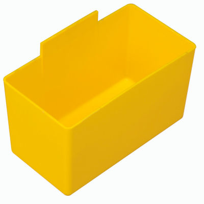 QBC112 Little Inner Bin Cup for Plastic Stacking Bins - 2-3/4 x 5-1/4 x 3 Yellow - Pkg Qty 48
