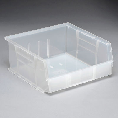 Plastic Stack and Hang Parts Storage Bin 11 x 10-7/8 x 5 Clear - Pkg Qty 6