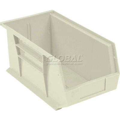 Global™ Stackable Storage Bin 5-1/2 x 14-3/4 x 5, Beige - Pkg Qty 12