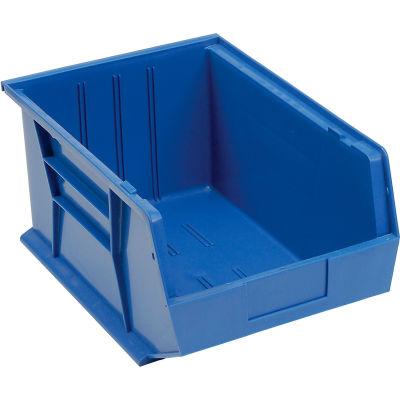 Plastic Stack and Hang Parts Storage Bin 11 x 16 x 8 Blue - Pkg Qty 4