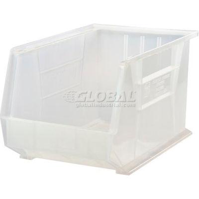 "Global Industrial™ Plastic Stack & Hang Bin, 11""W x 16""D x 8""H, Clear - Pkg Qty 4"