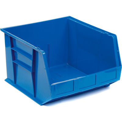"Global Industrial™ Plastic Stack & Hang Bin, 16-1/2""W x 18""D x 11""H, Blue - Pkg Qty 3"