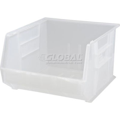 Plastic Stack and Hang Parts Storage Bin 16-1/2 x 18 x 11 Clear - Pkg Qty 3