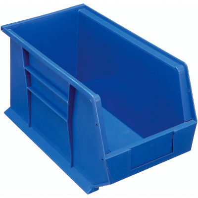 Plastic Stack and Hang Parts Storage Bin 8-1/4 x 18 x 9 Blue - Pkg Qty 6