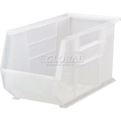 "Global Industrial™ Plastic Stack & Hang Bin, 8-1/4""W x 18""D x 9""H, Clear - Pkg Qty 6"