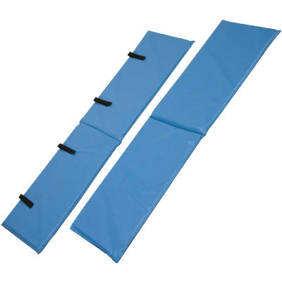 DMI® Vinyl Bed Rail Cushions with Non-Allergenic Cover, Blue, 1 Pair