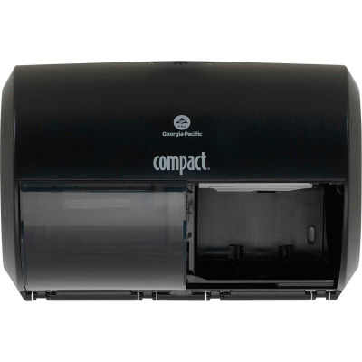 GP Compact Side-By-Side Double Roll Bathroom Tissue Dispenser, Black - 56784A