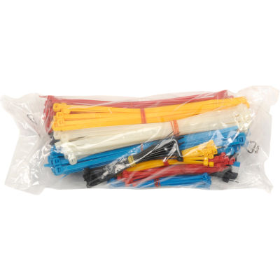 Global Industrial™ Assorted Cable Zip Tie Pack - 375 Pack