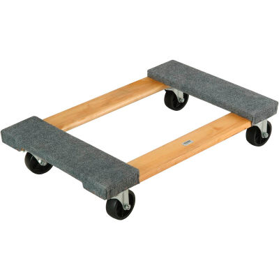 Global Industrial™ Hardwood Dolly with Carpeted Deck Ends 30 x 18 1200 Lb. Capacity