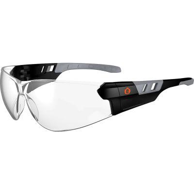 Ergodyne® Skullerz® SAGA Frameless Safety Glasses, Matte Black, Clear Lens