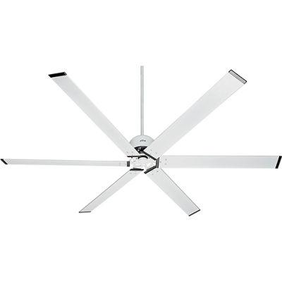 """Hunter Fan HFC-96 96"""" Damp Ceiling Fan 59132 - Fresh White"""