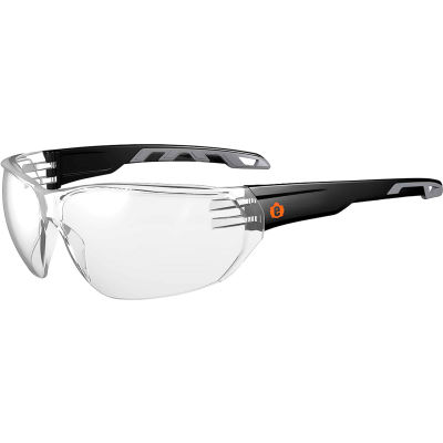 Ergodyne® Skullerz® VALI Frameless Safety Glasses, Matte Black, Clear Lens