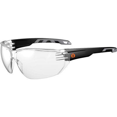 Ergodyne® Skullerz® VALI Frameless Safety Glasses, Matte Black, Anti-Fog Clear Lens