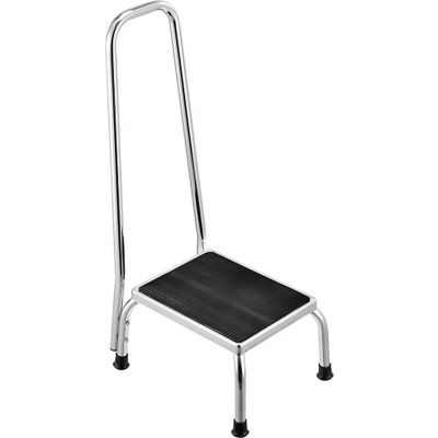 Global Industrial™ Medical Step Stool With Handrail, Non-Skid Rubber Footstool Platform