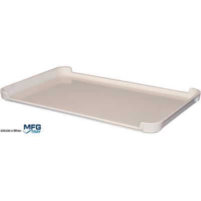 """Molded Fiberglass Drying Tray with Drop Sides 23 7/8"""" x 14 7/8"""" x 1 3/8"""" White"""
