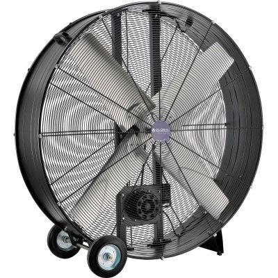 "Global Industrial™ 48"" Portable Drum Blower Fan - Belt Drive - 19500 CFM - 1-1/2 HP"
