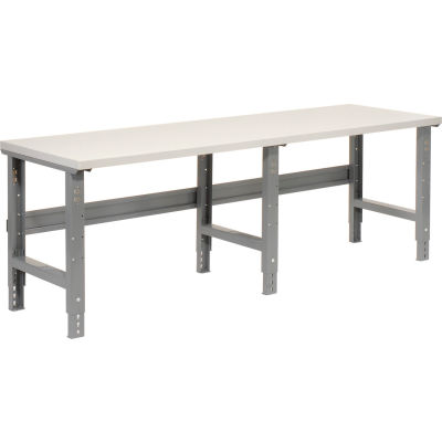 Global Industrial™ 96x36 Adjustable Height Workbench C-Channel Leg - Laminate Square Edge Gray