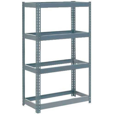 """Global Industrial™ Extra Heavy Duty Shelving 36""""W x 24""""D x 60""""H With 4 Shelves, No Deck, Gray"""