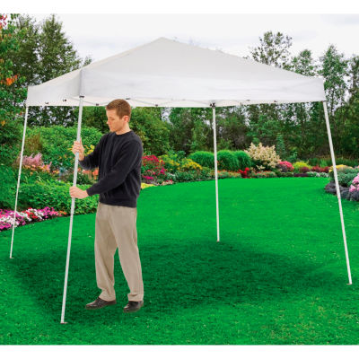 "Global Industrial™ Portable Slant Leg Pop Up Canopy, 10'L x 10'W x 8'11""H, White"