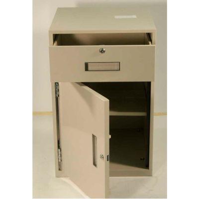Fenco Lowboy Teller Pedestal Cabinet S-603L-A - 1 Drawer Left Hinged Door 19 x 19 x 27-7/8 Champagne