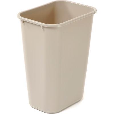 10 Gallon Rubbermaid Plastic Wastebasket - Beige