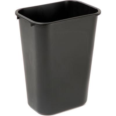 10 Gallon Rubbermaid Plastic Wastebasket - Black