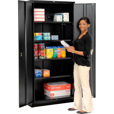 Global Industrial™ Storage Cabinet Easy Assembly 36x18x78 Black