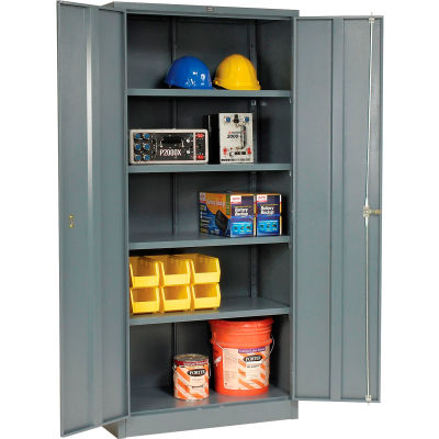 Global Industrial™ Storage Cabinet Easy Assembly 36x18x78 Gray