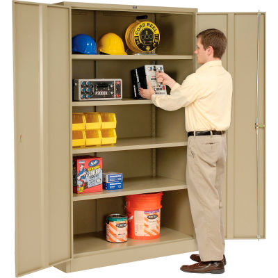 Global Industrial™ Storage Cabinet Assembled 48x18x78 Tan