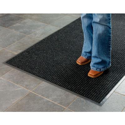 "Apache Mills Brush & Clean™ Entrance Mat 3/8"" Thick 3' x 5' Charcoal"