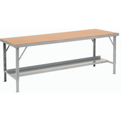 "Global Industrial™ 96""W x 48""D Heavy-Duty Extra Long Assembly Workbench Hardboard Top - Gray"