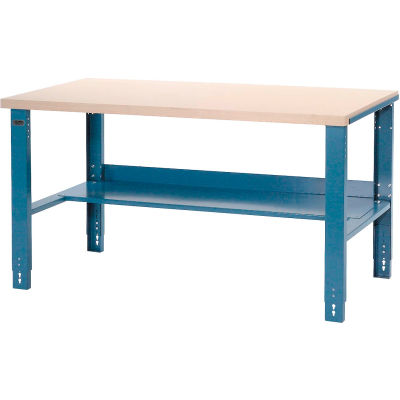 """Global Industrial™ Industrial Workbench w/ Laminate Square Edge Top, 60""""W x 30""""D, Blue"""