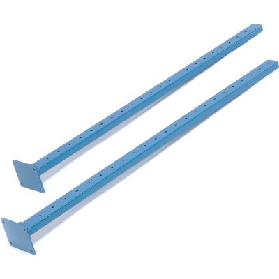 "Global Industrial™ Upright Kit, Blue, 48""H, Set Of 2"