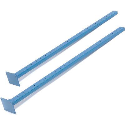 """Global Industrial™ Upright Kit, Blue, 48""""H, Set Of 2"""