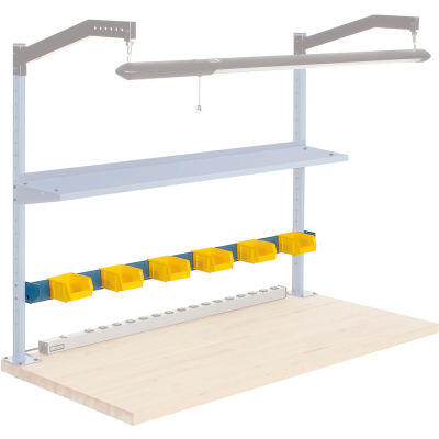 "Global Industrial™ 60""W Bin Rail- Blue"