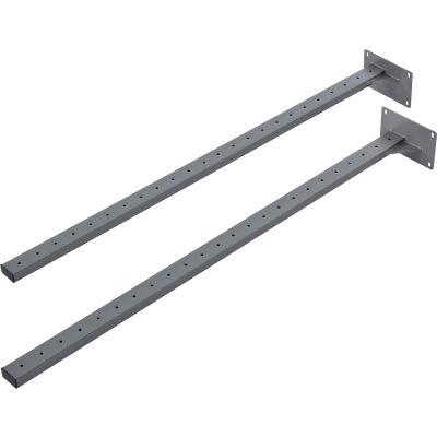 Global Industrial™ Steel Uprights, Gray, 2/Pack