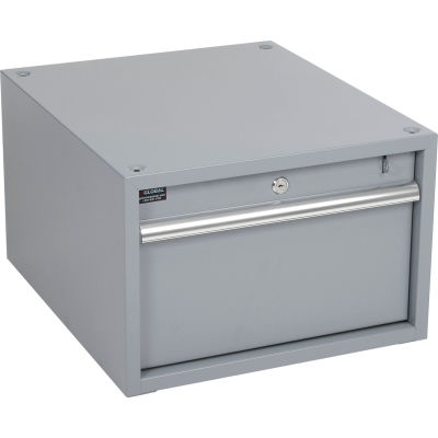 """Global Industrial™ Stacking Workbench Drawer 17-1/4""""W x 20""""D x 12""""H - Gray"""