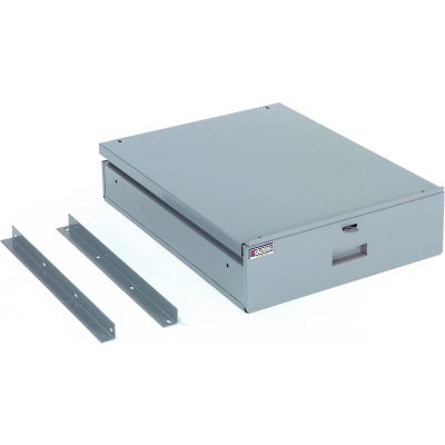 "Global Industrial™ Workbench Steel Drawer 18-1/4""W x 23-7/8""D x 5-3/8""H - Gray"