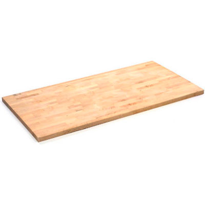 """Global Industrial™ 96""""W x 30""""D x 1-3/4""""H Maple Butcher Block Square Edge Workbench Top"""
