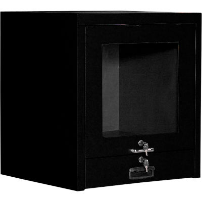 Global Industrial™ Counter Top CRT Security Computer Cabinet, Black